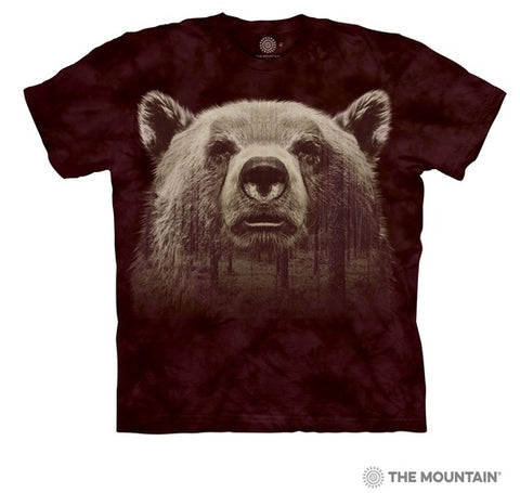 T-Shirt Bear face forest