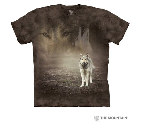 T-Shirt Grey wolf portrait