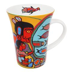 "Tasse "" Looking Through Portals "" de Norval Morrisseau"