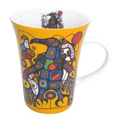 "Tasse ""Man Changes Into Thunderbird"" de Norval Morrisseau"