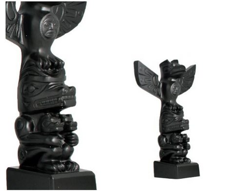"Totem ""Corbeau, Ours & Oursons"""
