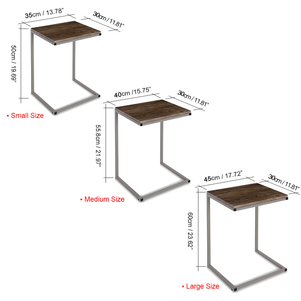 3 Piece Coffee Table - Metal Frame