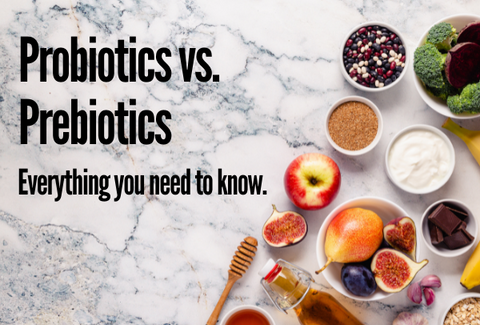 what is the difference between probiotics and prebiotics?