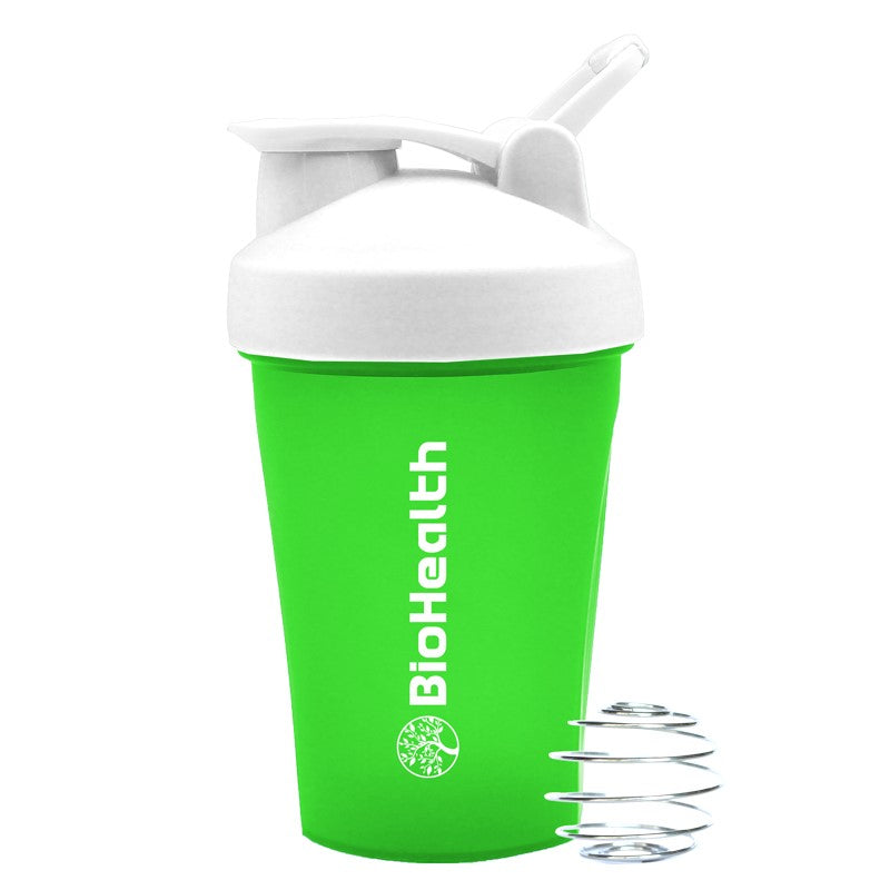 BioHealth Shaker Bottle let's you blend your protein shakes to perfection.