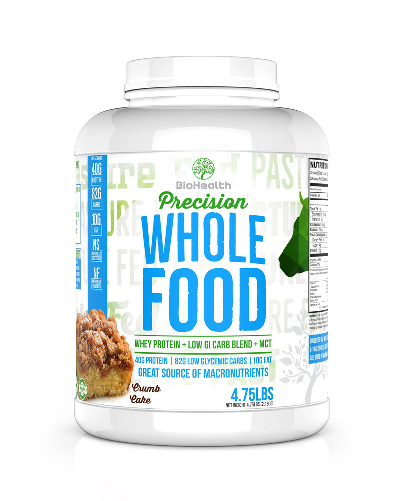 BioHealth Nutrition Supplements - Precision Whole Food Meal Replacement Protein Crumb Cake