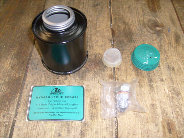 190SL Early Style Metal Brake Fluid Container - Painted