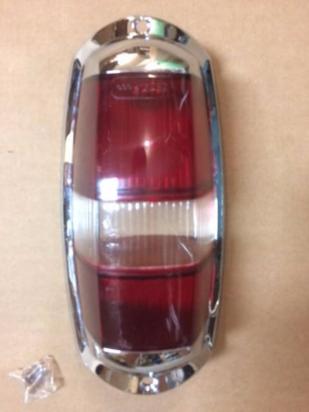 190SL Tail Light Lens - Late - Red/Clear/Red