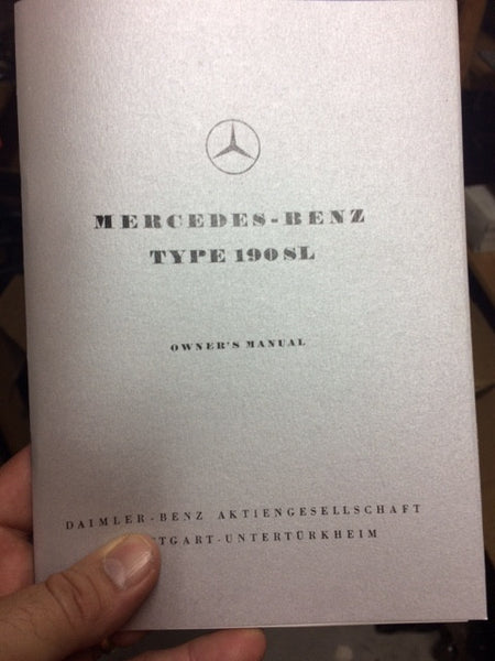 190SL Reprint Owners Manual