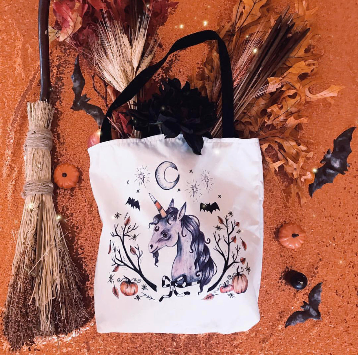 Fall Farmer's Market Halloween Tote- Exclusive- Enchantment Box X Olivia Faust
