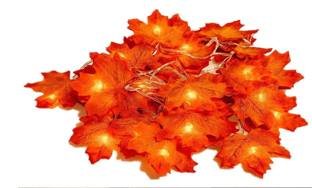 Maple Leaf Battery Powered Halloween Lights