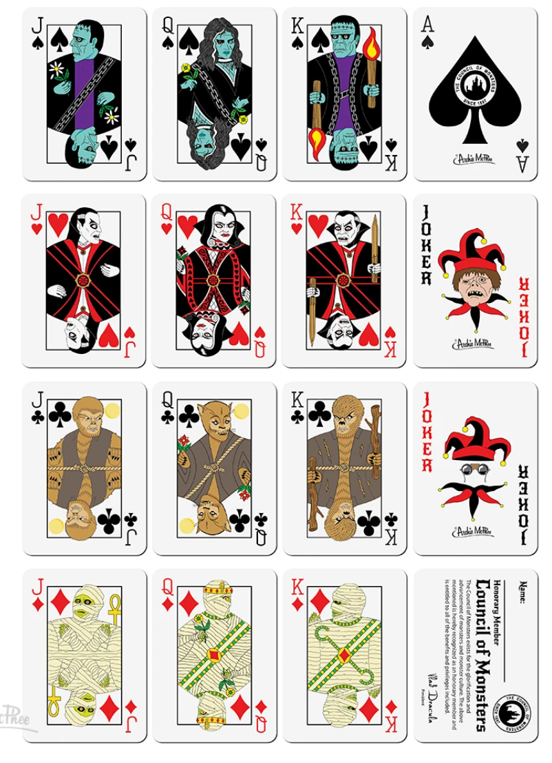 Council of Monsters Playing Card Deck
