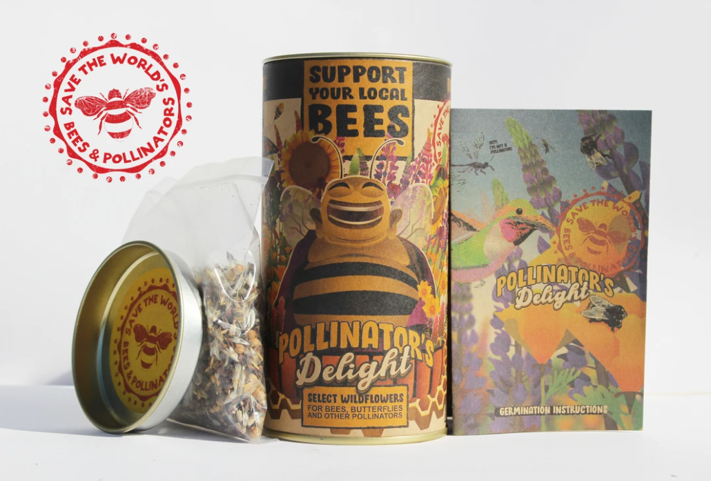 Bee-Friendly! Pollinator's Delight Wildflower Mix Seed Grow Kit