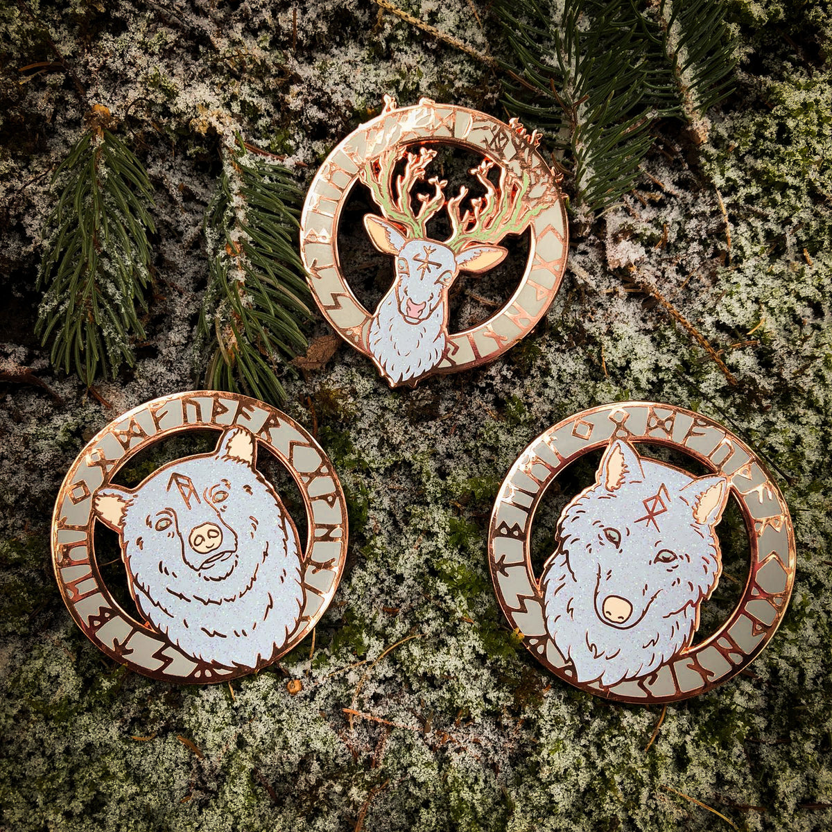 WytchWood Fylgja Pin Collection- Set of Three