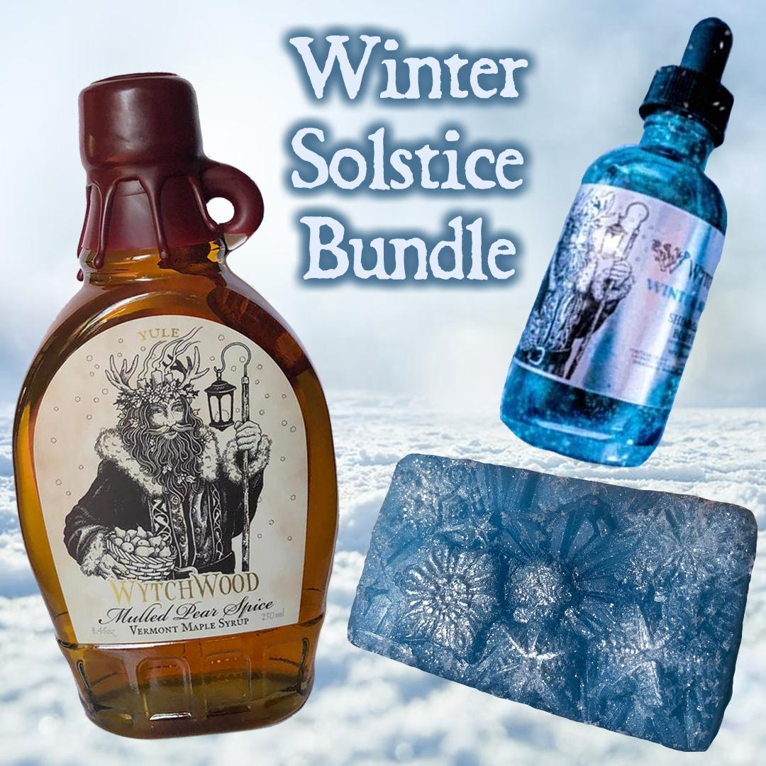 Winter Solstice Set- Yule Maple Syrup, Winter Solstice Body Oil & Winter Solstice Soap