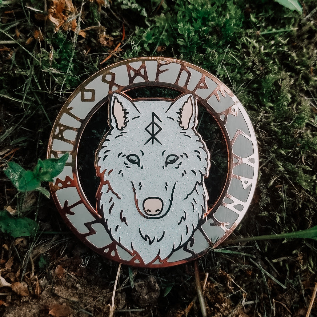 WytchWood Animal Spirit Totem Enamel Pin - Wolf