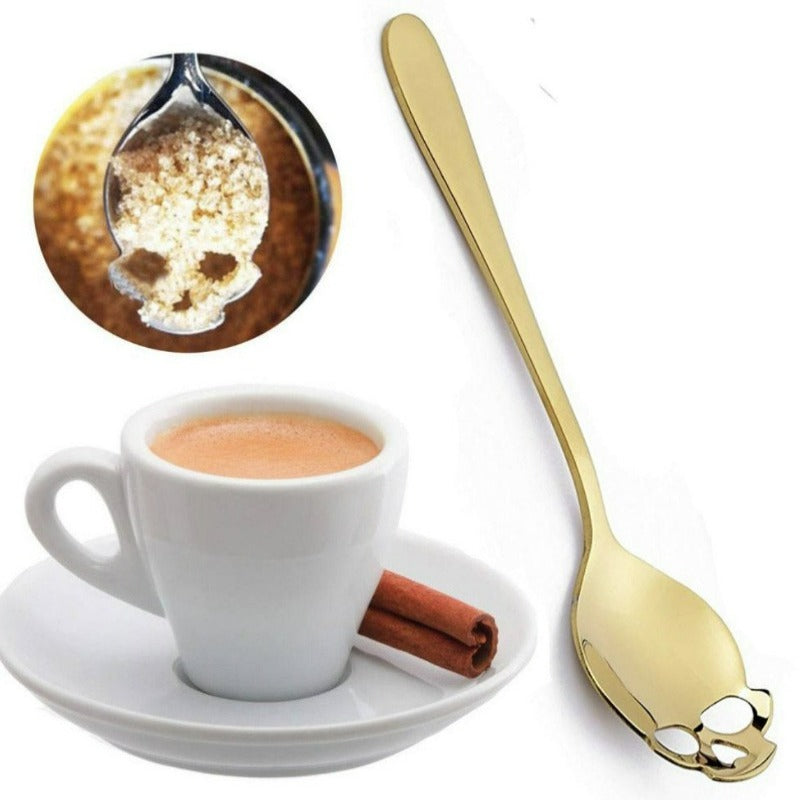 Gold Skull Teaspoon