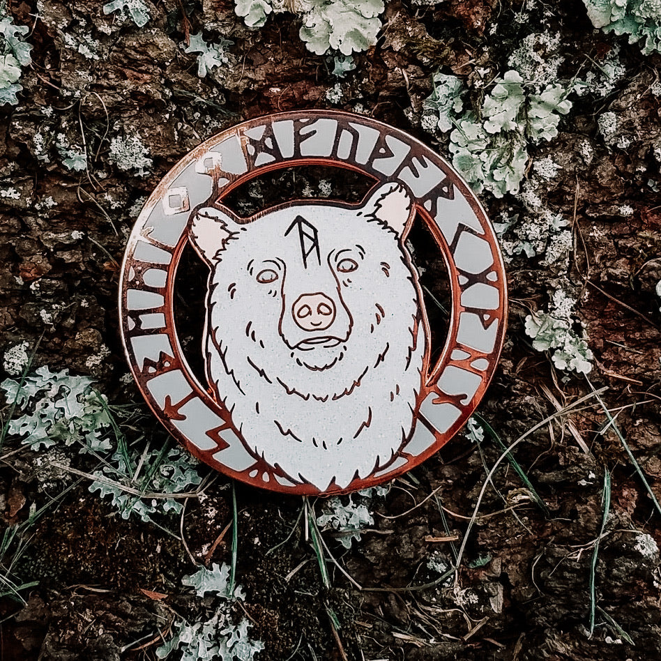 Animal Spirit Totem Enamel Pin - Bear