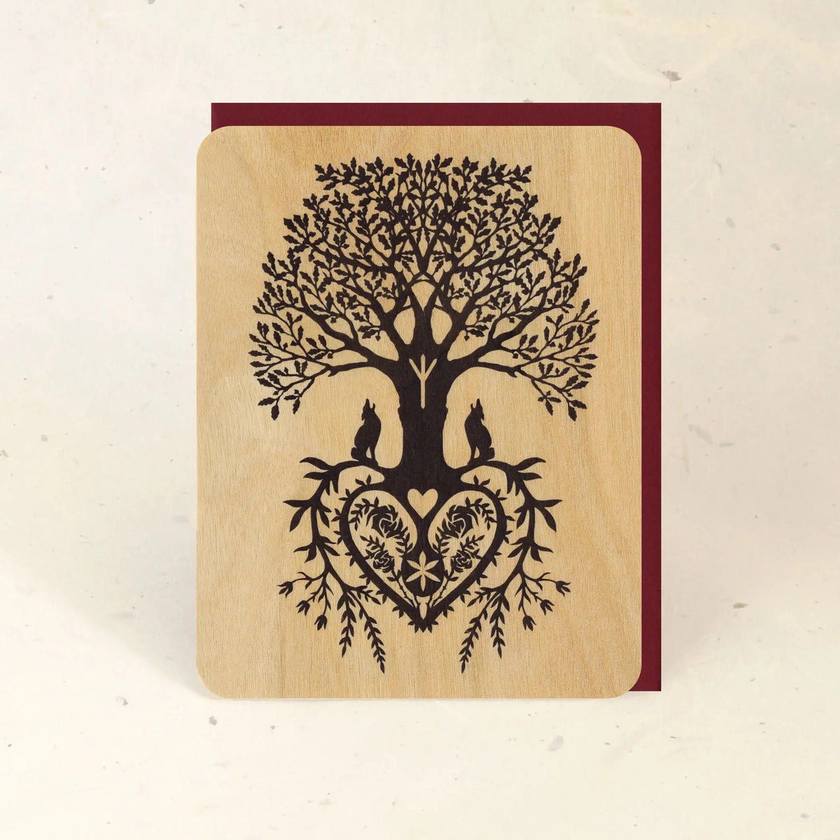 Tree of Life Wood Greeting Card