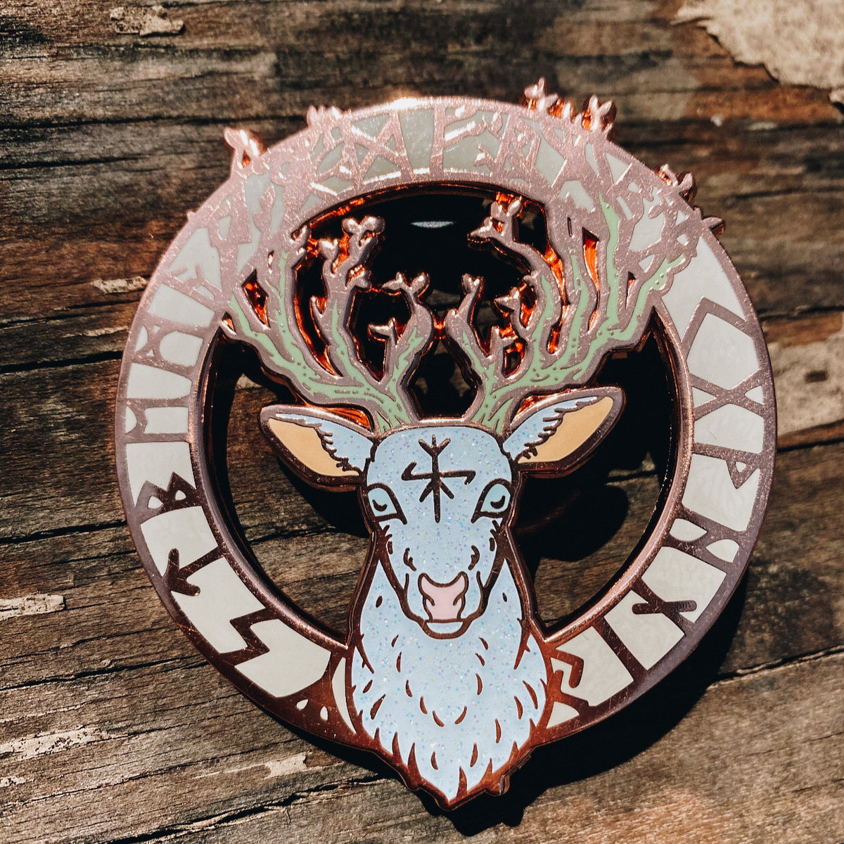 Animal Spirit Totem Enamel Pin - Hart (Deer)