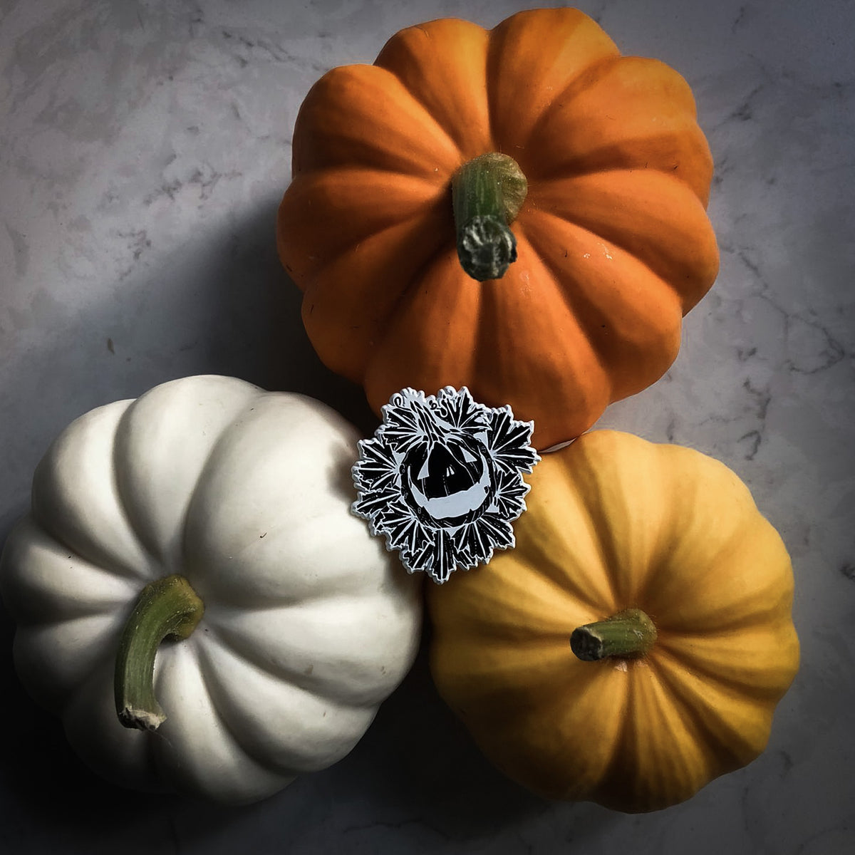 Harvest Pumpkin Wreath Pin
