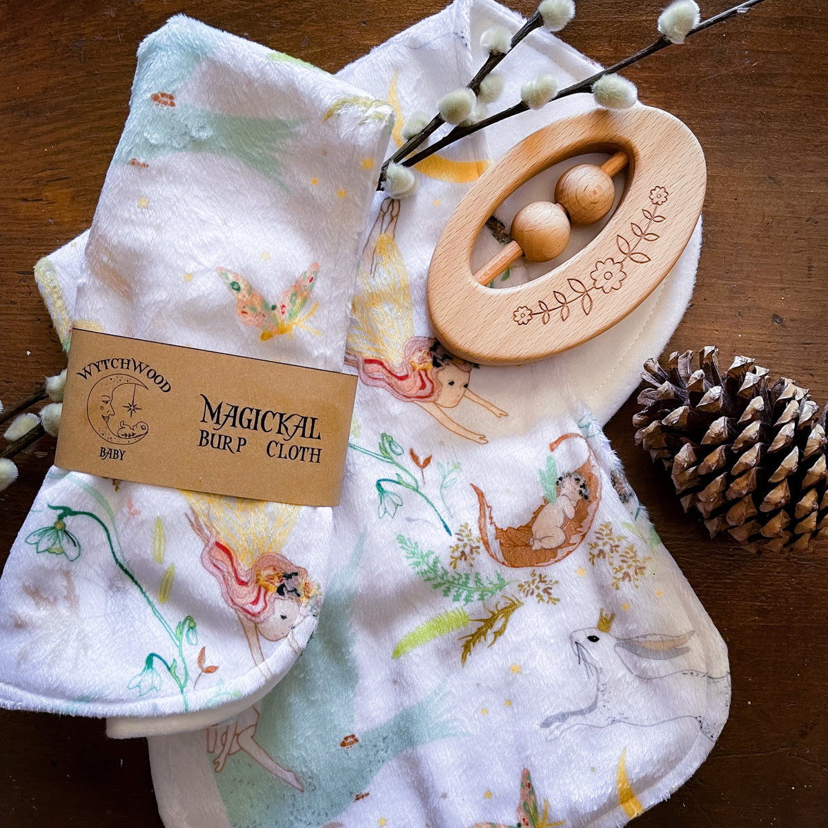 Fairies in the Forest Burp Cloth
