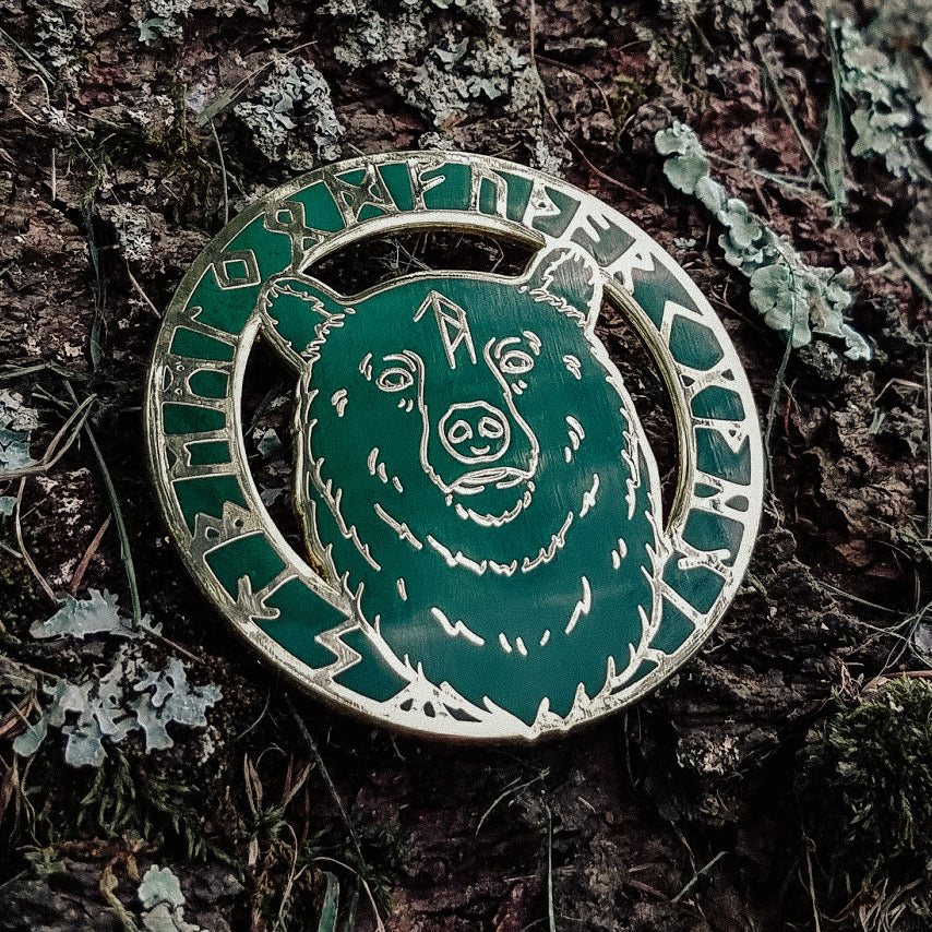 WytchWood Animal Spirit Totem Enamel Pin - Bear