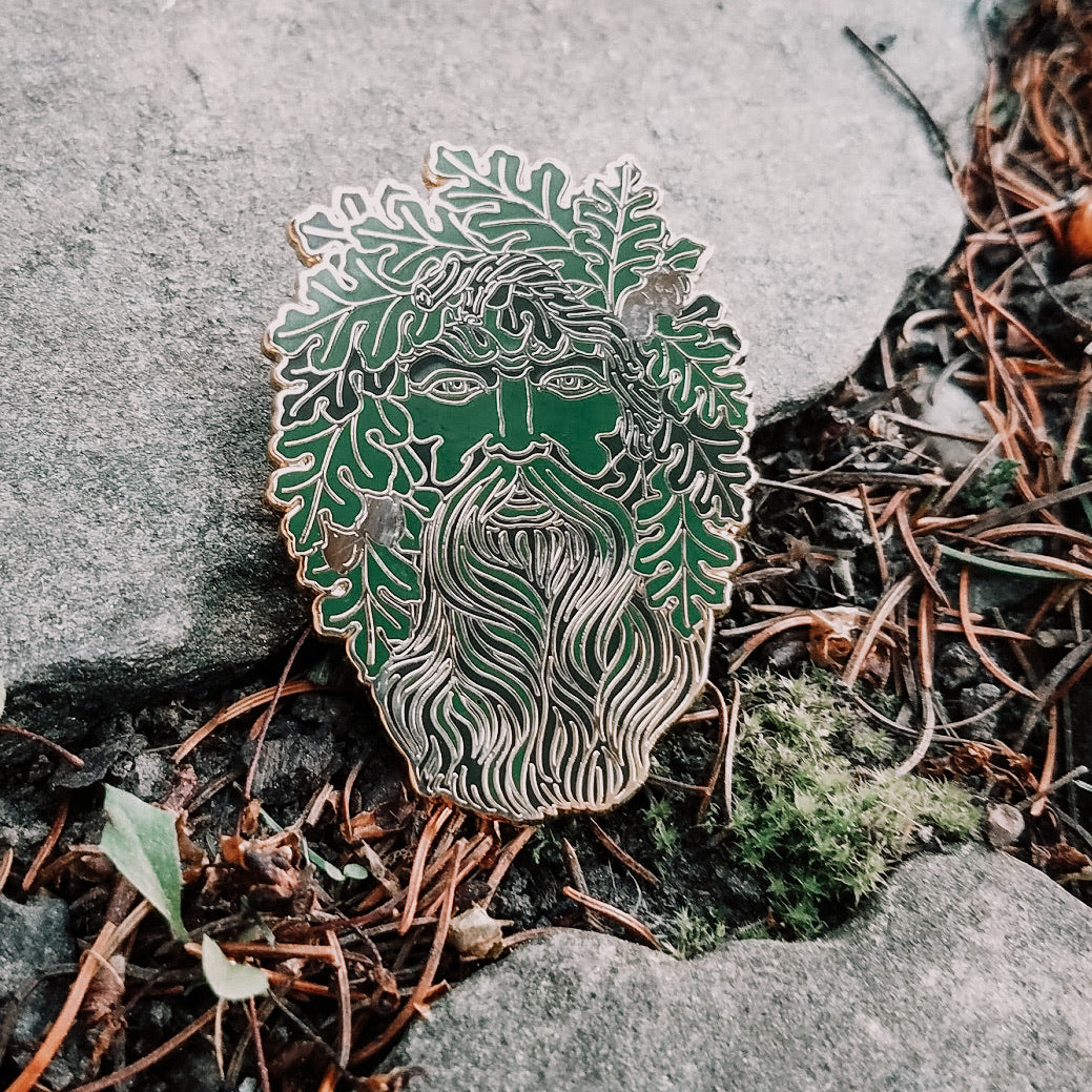 The Green Man Enamel Pin
