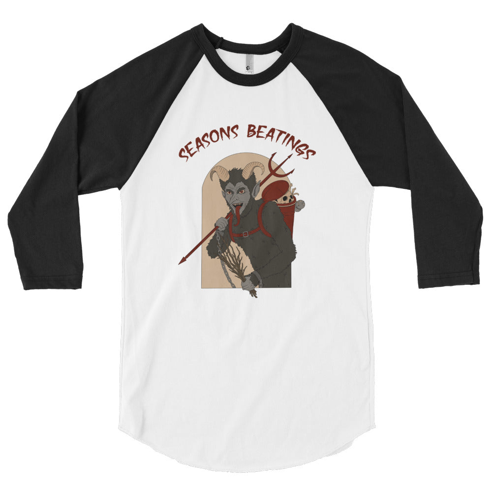 WytchWood 'Seasons Beatings' Krampus 3/4 Sleeve Raglan Shirt