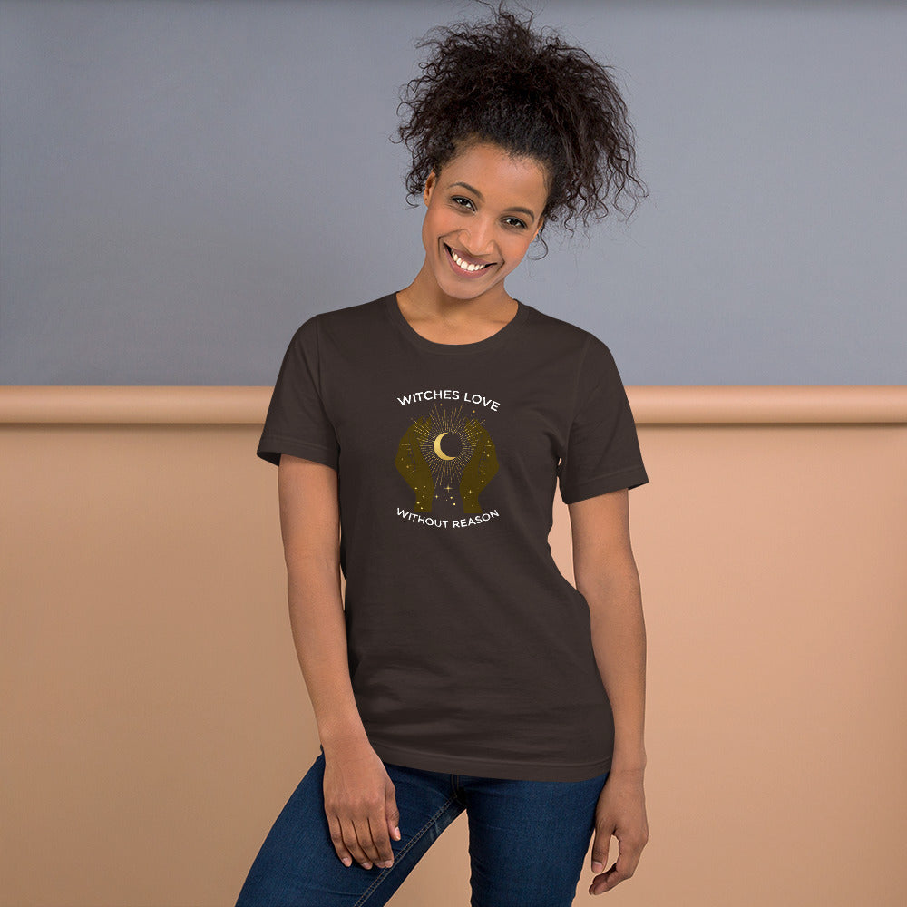 Witches Love Without Reason Non-Profit T-Shirt (Black + Brown Tee)