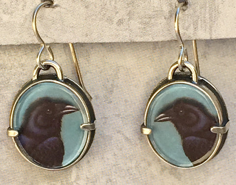 Bijou Graphique Raven Earrings