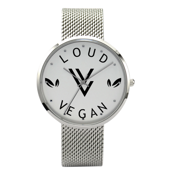 Loud Vegan 30 Meters Waterproof Quartz Fashion Watch With Casual Stainless Steel Band