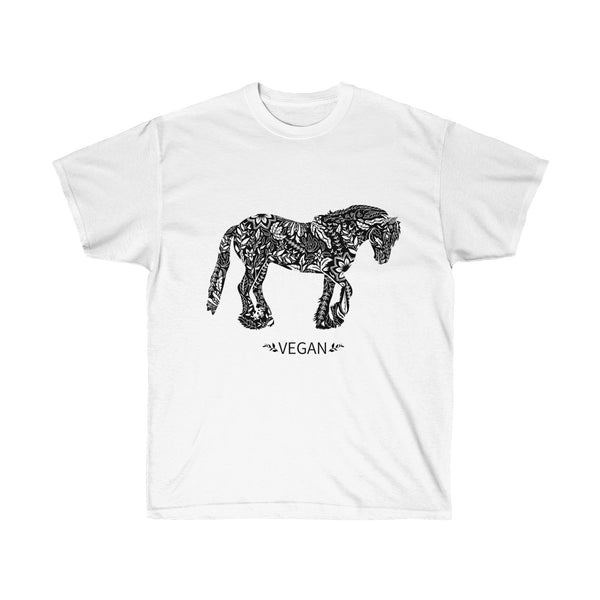 Unisex Vegan Horse Ultra Cotton Tee