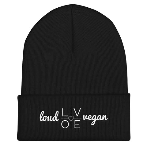 Loud Love Vegan Unisex Cuffed Beanie