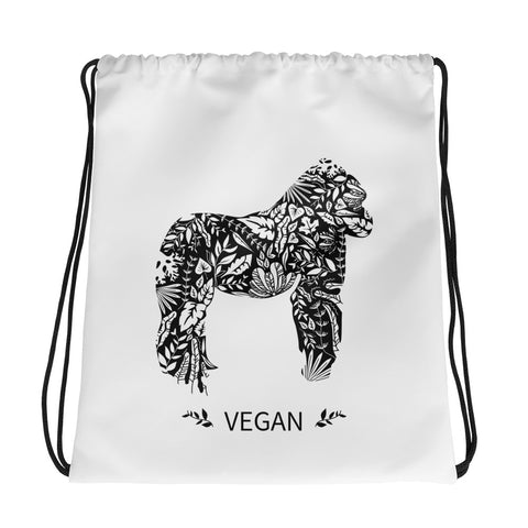 Drawstring Vegan Gorilla bag