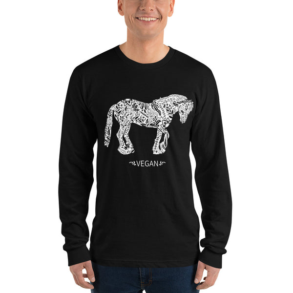 Vegan Horse Long sleeve t-shirt