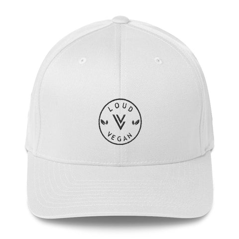 Loud Vegan Logo design - Flex Fit Structured Twill Cap