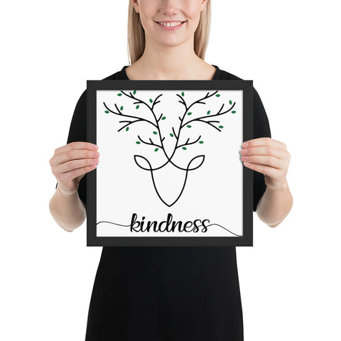 Kindness Framed photo paper poster