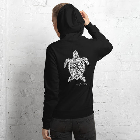 The Loud Vegan Island Turtle Signature Series Unisex hoodie