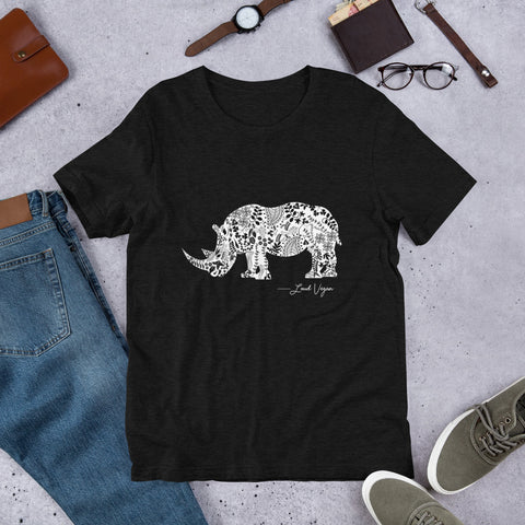 Loud Vegan Signature Rhinoceros Series Short-Sleeve Unisex T-Shirt