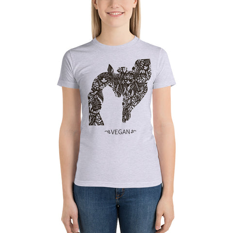 Loud Vegan Giraffe Short Sleeve Women's T-Shirt