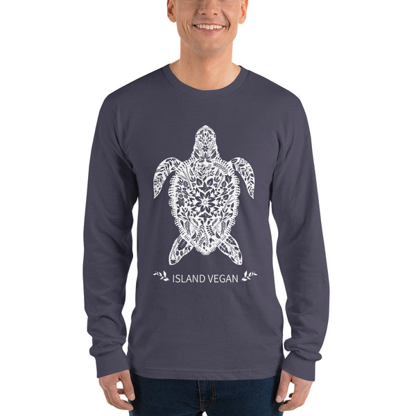 Loud Vegan Island Turtle Long Sleeve T-Shirt