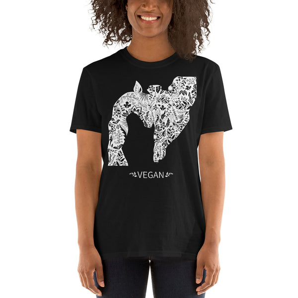 Loud Vegan Giraffe Short-Sleeve T-Shirt (unisex)