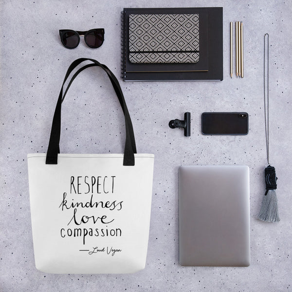 Respect Kindness Love and Compassion design - Tote bag