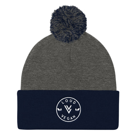 Loud Vegan Logo design - Pom Pom Knit Cap
