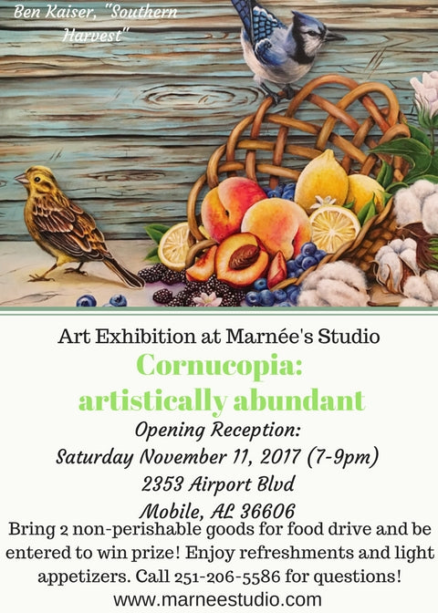 "Juried Group Art Exhibition: ""Cornucopia: artistically abundant"""