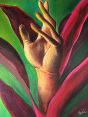 Manus Botanica Painting by Renee Wiley Edwards