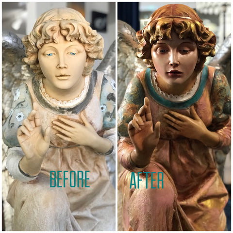 sculpture restoration by Marnée Wiley