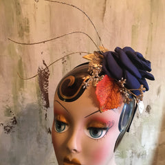Navy Holiday Fascinator by Renee Wiley Edwards