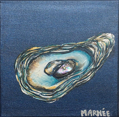 Oyster Series 3 Painting by Renee Wiley Edwards