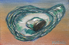 Oyster Series 6 Painting by Renee Wiley Edwards